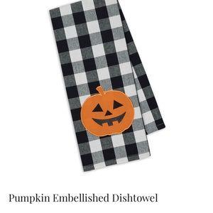 Pumpkin dishtowel